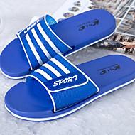 ราคาถูก -สำหรับผู้ชาย PU ฤดูร้อนฤดูใบไม้ผลิ ไม่เป็นทางการ รองเท้าแตะและรองเท้าแตะ ลายบล็อคสี สีเขียว / ฟ้า / สีน้ำเงินกรมท่า