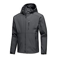 cheap -Men's Full Zip Track Jacket Hoodie Jacket Running Jacket Long Sleeve Waterproof Windproof Breathable Running Walking Jogging Sportswear Solid Colored Athleisure Wear Top Black Grey Dark Blue
