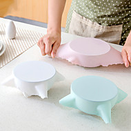 billige -3 stk multifunksjonell universal silikon matinnpakning gjenbrukbart kjøleskap matlagringsdeksel wrap klamfilm kjøkken