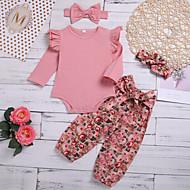 مجموعة ملابس كم طويل طباعة للفتيات طفل
