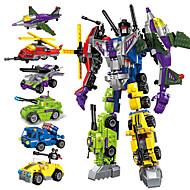voordelige -Bouwblokken Educatief speelgoed Bouwset speelgoed Transformatie auto speelgoed 506 pcs Automatisch Helikopter Robot verenigbaar A-Klasse ABS plastic Legoing transformable Alles-in-1 Creatief Jongens