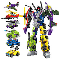 povoljno -Kocke za slaganje Poučna igračka Građevinski set igračke Transformacijska igračka za automobile 506 pcs Automobil Helikopter Roboti kompatibilan Grade ABS plastike Legoing transformabilan Sve-u-1