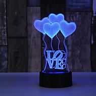 Balon w kształcie serca AuCD 3D na Walentynki Romantyczna nocna lampa Kolorowa lampa akrylowa do domu i sypialni 10
