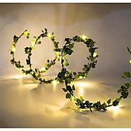 1st 10m 100leds utomhus led semester ljus blad garn strålande krans strålkastare batterikraft fungerar för rustik bröllop fest dekor