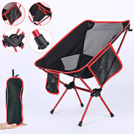 Camping Chair with Side Pocket Portable Ultra Light (UL) Foldable Comfortable Mesh 7075 Aluminium Alloy for Camping / Hiking Fishing Beach Outdoor Autumn / Fall Spring Blue Red Orange Dark Blue
