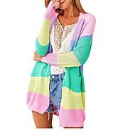 Per donna Monocolore Manica lunga Cardigan Maglione maglione, A V Arcobaleno S / M / L