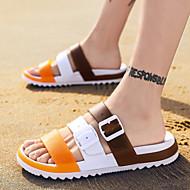 رجالي PVC الخريف / للربيع والصيف كاجوال صنادل أحذية الماء متنفس أحمر / برتقالي / أزرق