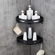 abordables -étagère de salle de bain étagères espace aluminium nickel brossé support mural triangle douche support de stockage de bonbons accessoires de bain simple couche