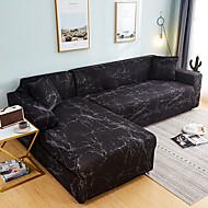 abordables -nordique simple style noir motif de marbre housse de canapé simple double trois personnes housse de canapé extensible