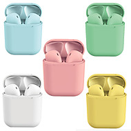 cheap -LITBest New Macaron i12 Inpods TWS True Wireless Headphones Hey Siri Earbuds Multiple Color Options Bluetooth 5.0 Pop Up for iOS Compatible with Android iOS Smartphones Touch Control Earphones