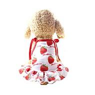 Hunder Kjoler Hundeklær Rød Kostume Husky golden retriever Dalmatiner Net Frukt slagord Fritid / hverdag søt stil XS S M L XL XXL
