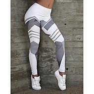 Жен. Спорт / Йога Спортивный / Классический Леггинсы - Геометрический принт, С принтом Нормальная Белый Черный S M L