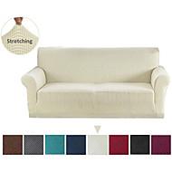 sofadeksel sofa deksel møbler beskytter solid farge myk stretch sofa slipcover super strekkbar deksel passer for lenestol / kjæreste / tre seter / fireseter / l form sofa enkel å installere og pleie