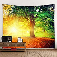 cheap -Beautiful Natural Forest Printed Large Wall Tapestry Cheap Hippie Wall Hanging Bohemian Wall Tapestries Mandala Wall Art Decor