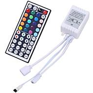 preiswerte -zdm 2-port 44 tasten wireless ir fernbedienung dimmer für smd 5050 3528 rgb led streifen lichter dual 4-pin ausgang fernbedienung für 2 stücke rgb led streifen dc12-24v