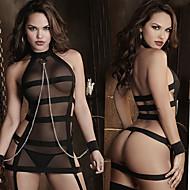女性用 ユニフォーム 成人 ベビードール&スリップ セクシー ドレス パッチワーク ドレス / チュール