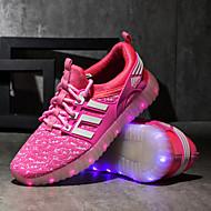 저렴한 -남아 / 여아 컴포트 / 야광 신발 / USB 충전 플라이 닛트 운동화 어린 아이들 (4-7ys) / 빅 키즈 (7 년 +) 워킹화 LED / 야광의 블랙 / 퓨샤 / 핑크 봄 / 가을 / TPR (열가소성 고무)
