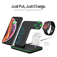 cheap -Fast Charger / 3 in 1 Wireless Chargers / Wireless Charger LED Lights / with Cable / Multi-Output Fast Charger ROHS