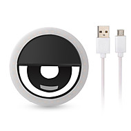 abordables -1x LED Mobile Téléphone USB Charge Selfie Light Clip-on Lampe Portable LED Selfie Ring Light Flash Light Photo Camera pour iPhone Smartphone