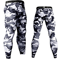 cheap -JACK CORDEE Men's Running Compression Pants Sports & Outdoor Base Layer Tights Leggings Spandex Running Jogging Training Breathable Quick Dry Moisture Wicking Sport White Black Army Green Blue Rough