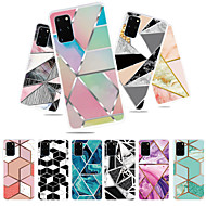 cheap -Case for Samsung scene map S20 S20 Plus S20 Ultra A51 A71 colorful geometric mosaic marble pattern TPU material IMD process all-inclusive mobile phone case QXC