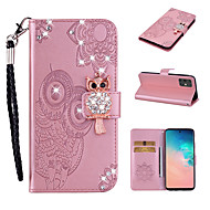 cheap -Case For Samsung Galaxy S9 / S9 Plus / S8 Plus Wallet / Card Holder / Shockproof Full Body Cases Animal PU Leather / TPU