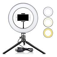 """billige -zdm 10 """"dimbar led ring lys tiktok youtube video selvutløser fyllelys usb led bordlamper for fotografering sminke skjønnhet fyllelys usb"""