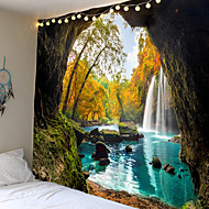 cheap -Wall Tapestry Art Decor Blanket Curtain Picnic Tablecloth Hanging Home Bedroom Living Room Dorm Decoration Mooie Cave Landscape Tree Forest Waterfall River