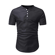 Men's Solid Colored Polo Basic Daily Going out Black / Blue / Red / Khaki / Short Sleeve