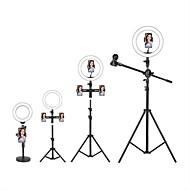 abordables -LED selfie anillo luz luz de relleno tiktok luces youtube video emisión regulable en vivo con soporte soporte para teléfono micrófono 1pc 2pcs