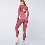สำหรับผู้หญิง 2 Pieces เสื้อชายแขนแบบสอดนิ้ว activewear ชุด ชุดออกกำลังกาย ชุดโยคะ 2pcs ฤดูหนาว เอวสูง วิ่ง เดินเท้า วิ่งออกกำลังกาย ระบายอากาศ แห้งเร็ว Moisture Wicking กีฬา ชุดเสื้อผ้ากีฬา แขนยาว