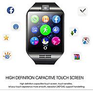 Q18 Uniszex Intelligens Watch Android Bluetooth Vízálló Érintőképernyő Vérnyomásmérés Információ Kamera kontroll EKG + PPG Alvás nyomkövető Közösségi megosztás
