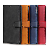 cheap -Case For Samsung Galaxy A71 / Galaxy A11 / Galaxy A41 Card Holder / Shockproof Full Body Cases Solid Colored PU Leather