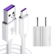 cheap -1.5M 5A USB Mobile Phone Type c Fast Charging Cable American standard USB Charging Plug