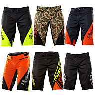 Men's Downhill Shorts Cycling MTB Shorts Bike Shorts Bottoms Breathable Moisture Wicking Quick Dry Sports Plaid / Checkered Cotton Green / Black / Black / Green / Black / Orange Mountain Bike MTB