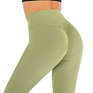 cheap -Women's High Waist Yoga Pants Seamless Ruched Butt Lifting Cropped Leggings Butt Lift Quick Dry Black Pink Orange Spandex Gym Workout Running Fitness Sports Activewear High Elasticity Skinny