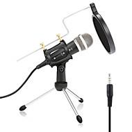 Drát Mikrofon Kondanzátorový mikrofon Pop filtr X-01 3,5 mm Jack pro studiové nahrávání a vysílání Notebooky a laptopy PC Mobilní telefon