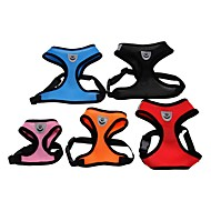Cat Dog Harness Mesh Harness Breathable Adjustable / Retractable Solid Colored Mesh Nylon Black Red