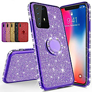 cheap -Diamond 360 Degree Rotating Ring Holder Plating Soft TPU Glitter Bling Case For Samsung S20 Ultra S10 Plus 5G A51 A71 A91 A81 A70E A20E A60 A90 A80 A41 A21 A11 A01 Note 10 Note 9 Note 8 Shining Case