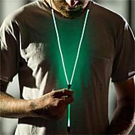 cheap -T55 Wired In-ear Earphone Full Glowing Luminous Light Metal Zipper Headset Glow in The Dark with Microphone