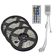 cheap -15M(3*5M) LED Light Strips RGB Tiktok Lights 3528 SMD 900 LEDs 8mm Strip Flexible Light LED Tape waterproof AC 12V 600LEDs with 44Key IR Remote Controller Kit