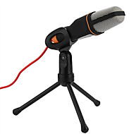Brand New Audio Wired Stereo Condenser SF-666 Microphone With Holder Stand Clip For PC Chatting Singing Laptop