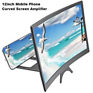cheap -12inch New Mobile Phone Curved Screen Amplifier HD 3D Video Mobile Phone Magnifying Glass Stand Bracket Phone Foldable Holder