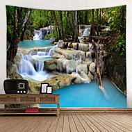 economico -wall arazzo art decor coperta tenda picnic tovaglia appesa casa camera da letto soggiorno dormitorio decorazione natura paesaggio foresta albero fiume waterfull