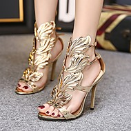 Women's Sandals Stiletto Heel Open Toe Daily PU Summer Nude Black Gold
