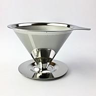 economico -portafiltro per caffè riutilizzabile in acciaio inox filtro antigoccia per caffè imbuto filtro per tè e caffè in rete metallica