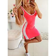 Women's Sheath Dress Short Mini Dress - Sleeveless Color Block Patchwork Summer Sexy Daily 2020 Black Blushing Pink S M L XL