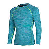 cheap -Men's Running Shirt Long Sleeve Elastane Thermal / Warm Breathable Quick Dry Fitness Gym Workout Running Walking Jogging Sportswear Tee Tshirt Black Blue Green Gray Activewear Stretchy
