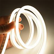 billige -2m neon stripelys 240 lys 2835 smd 6mm 1 stk varm hvit hvit rød jul nyttårs vanntett kuttbar dekorativ 12 v