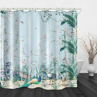 håndmalet jungle digitalt tryk vandtæt stof bruseforhæng til badeværelset boligindretning dækket badekar gardiner foring inkluderer med kroge